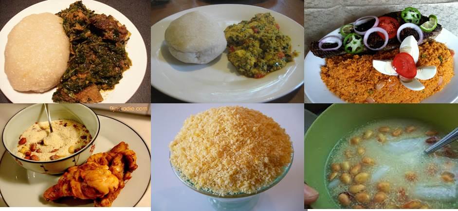 Cassava - Different garri African foods