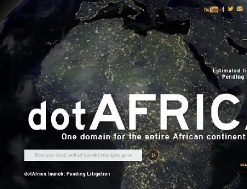 What do you think about the .africa internet registry that goes live on July 4?