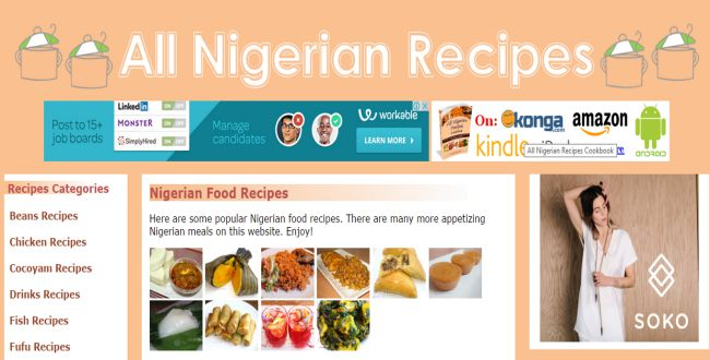 Nigerian Recipes - Guide and Tutorial blog