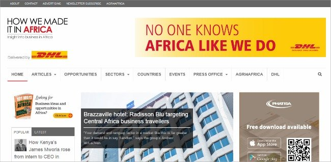 10. Top 30 Websites - How We Made it in Africa