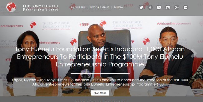 18. Top 30 Websites - The Tony Elumelu Foundation