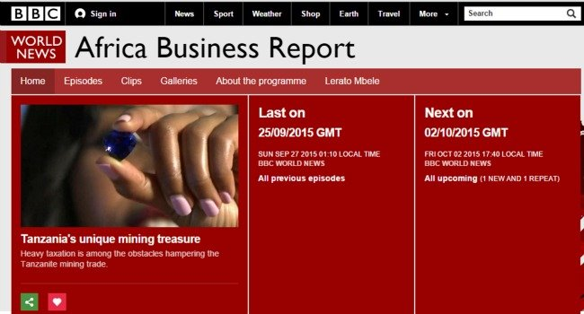2. Top 30 Websites - BBC Africa Business Report