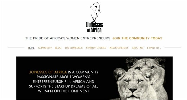 22. Top 30 Websites - Lionesses of Africa