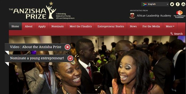 25. Top 30 Websites - The Anzisha Prize
