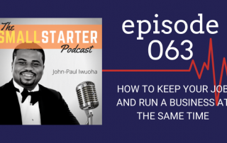 If you know somebody who is trying to juggle a job and a business, they're really going to learn a lot from this episode.