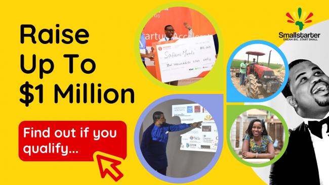 RUTIM Article Banner -- Raise Up to 1 Million -- Smallstarter Africa